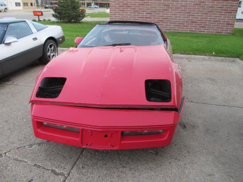 1984 Corvette Coupe Auto Parts Car w/Good Drive Train, Doors, Rear Clip, Etc