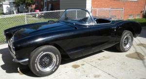 1957 Corvette Convertible Project Car Fresh 383 SBC 4 Speed Available with or w/o Parts, Black/Red Int