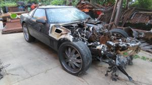 1990 Corvette Coupe 6 Speed Parts Car, Front End Burned Badly
