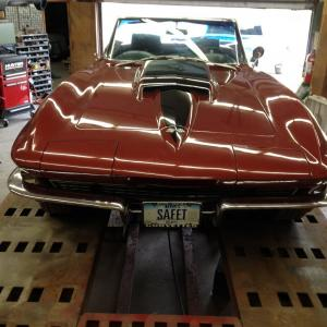 1967 Corvette Conv 427/390 4 Spd Headrests Speed Warning, Alum Wheels Side Exh