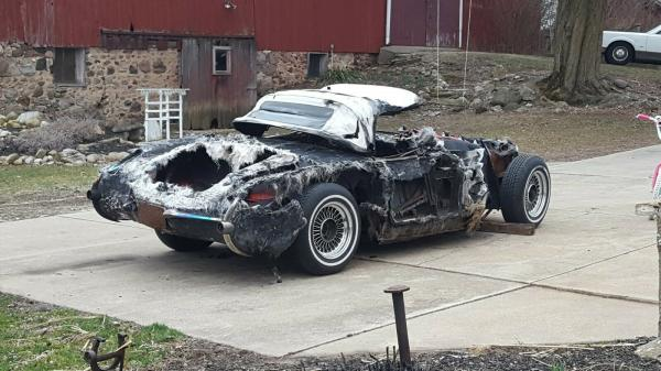 1957 Chevy Corvette Fuel Injected Project Parts Fire Recovery