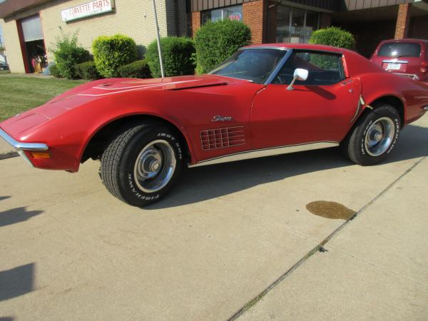 1971 C3 Corvette Original LT-1 Coupe Red 350 with 4 Speed Manual Transmission